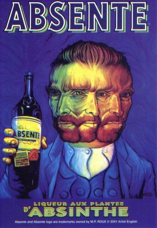 Absente, liqueur aux plantes d'absinthe