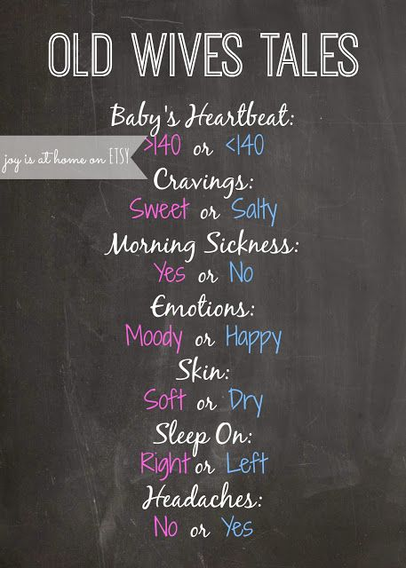 Joy Is At Home: Gender Reveal Party Free Printable: Chalkboard Old Wives Tales