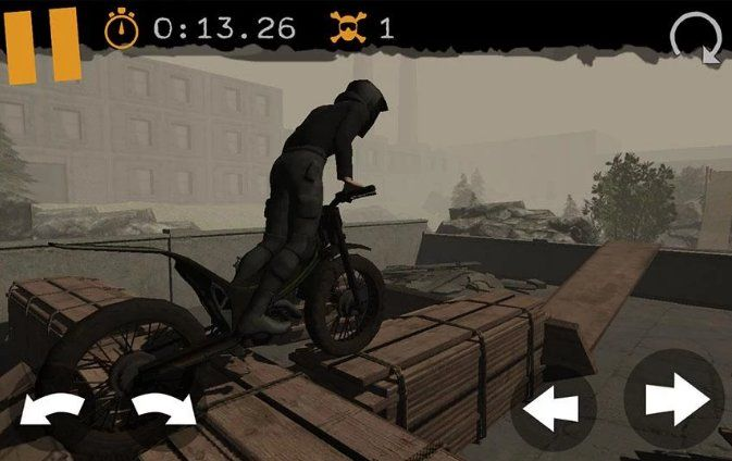 Motorbike Racing  ****************    Visit:https://play.google.com/store/apps/details?id=com.mooshoolabs.trialsv2.motorbikeracing    Motorbike racing is a fast paced fusion of trial bike games and and motocross riding.   Unlike both types though you will have to combine speed and precision skill to accomplish a victory,   or lose time with your face in the dirt and bike in the ditch.