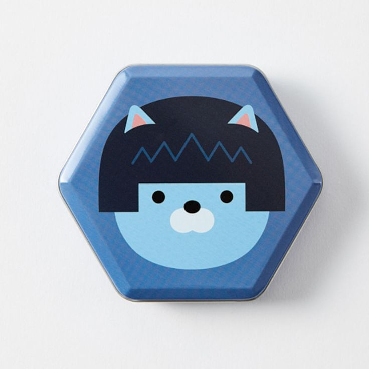 New Korea Kakao Talk Friends Cute Character Hexagon 10cm 4in Tincase Neo #KakaoFriends