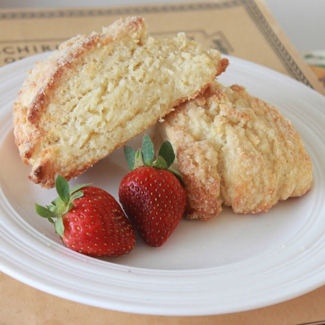 My favorite plain scone recipe. Crisp exterior. Fluffy, flaked interior.