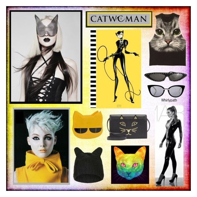 CATWOMAN! by whirlypath on Polyvore featuring Charlotte Olympia, Topshop and Fendi
