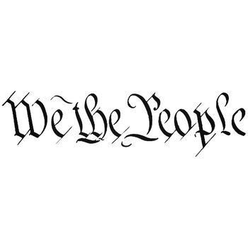 We The People Usa Constitution Vinyl Decal Sticker in 2020