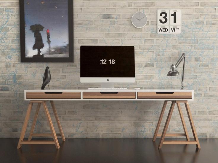 escritorio en proceso de diseño.    desk in design process.