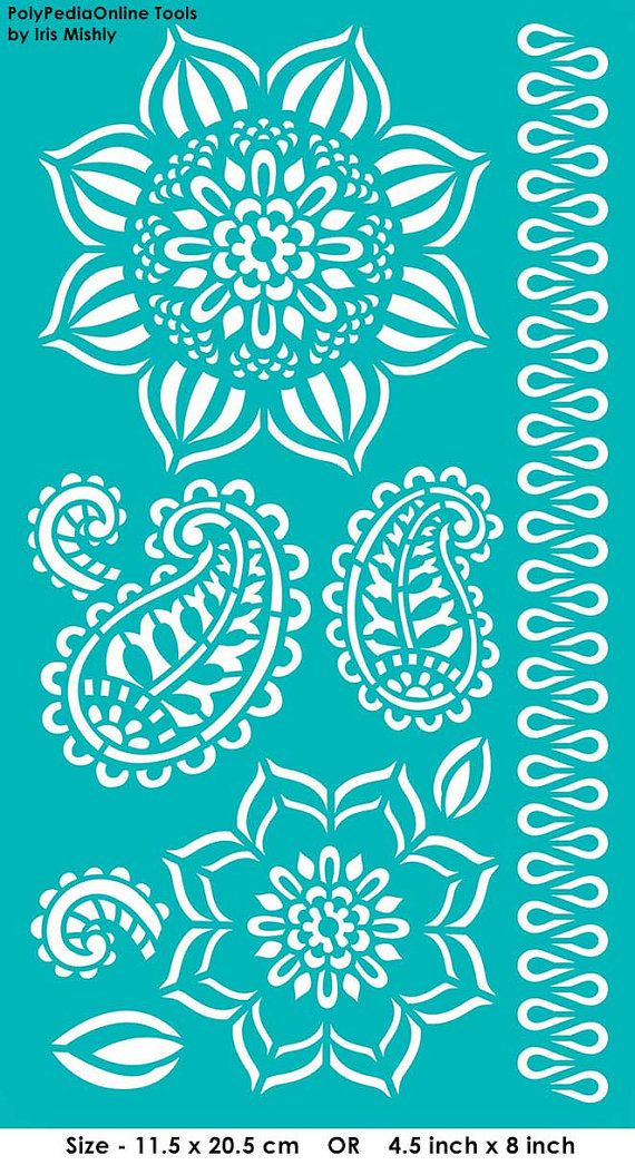 Stencil Mandala stencil Reusable Adhesive Flexible