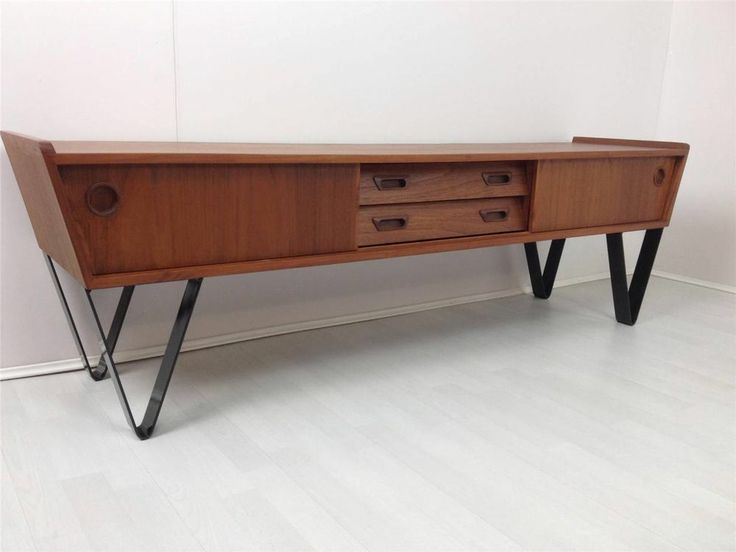 retro modernist scandinavian inspired low tv sideboard in. Black Bedroom Furniture Sets. Home Design Ideas