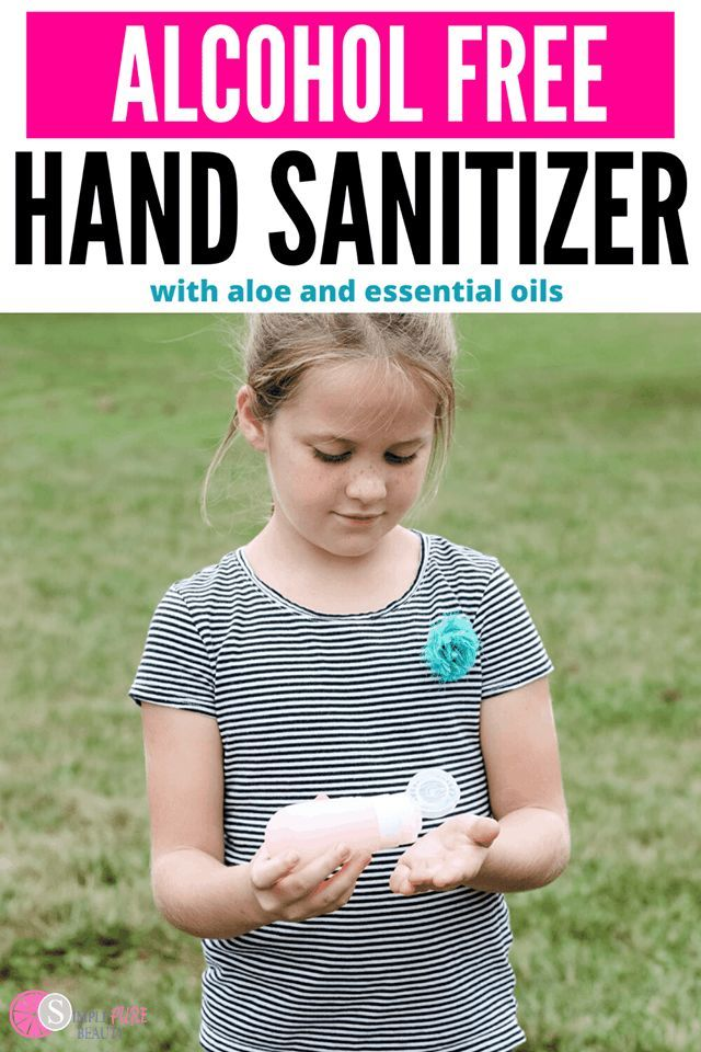 Diy Alcohol Free Hand Sanitizer Recipe With Alcohol Hand