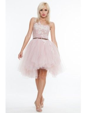 Rochie roz din tulle, Nicole Enea