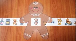 "Gingerbread Activities: Super-cute Gingerbread Man story ""slider"". Quick, easy & fun way for students to sequence & retell the story."
