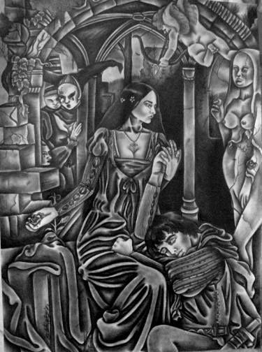 "Saatchi Art Artist Celeste Gómez; Drawing, ""Romeo and Juliet"" #art"