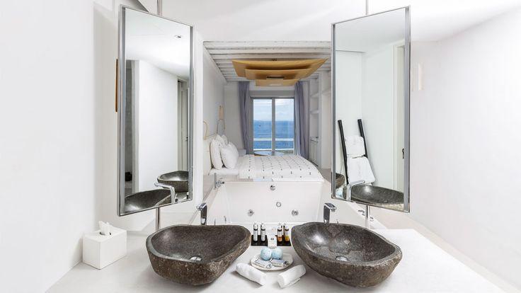 Luksusbad med marmor