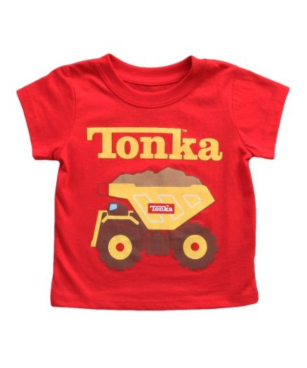 Boys Tonka Truck Red T-Shirt: Being kid is all about playing with Tonka trucks and getting down and dirty… #TShirts #CustomShirts #BandTees