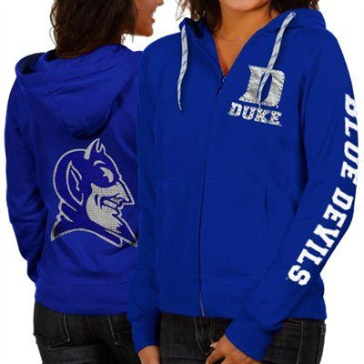 Duke Blue Devils Womens Glitz & Glamour Full Zip Hoodie - Duke Blue - #FanaticsWishList