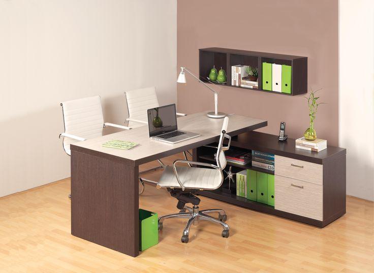 Escritorio Gamma MB. La Línea Gamma es una línea exclusiva para oficinas gerenciales ejecutivas. Moderna y funcionales | Habitat Store