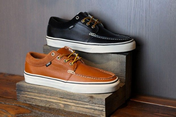 Vans Classics 2011 Holiday Leather 106 Moc. Look nicer than sperry's but are they more comfortable.