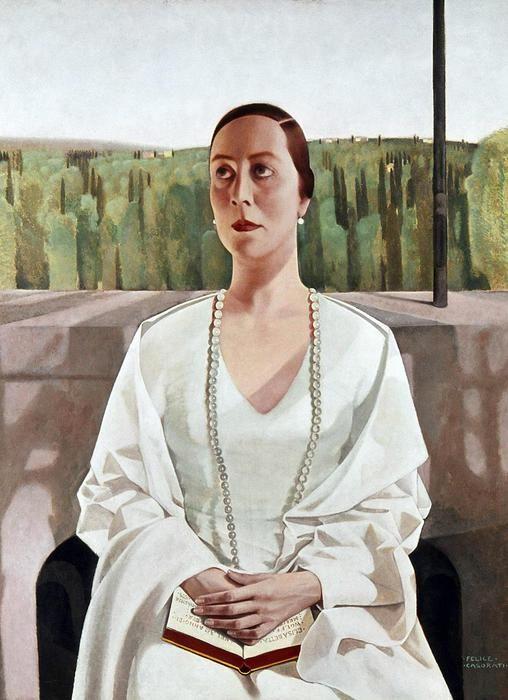Signora Elisabeth Wolff Merck, Felice Casorati.