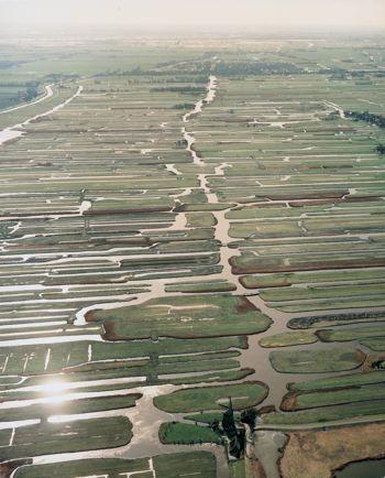 Aerial view of Holland. 'Nederland Waterland'