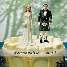 Figurine de mariage #Scotland - http://www.instemporel.com/s/12597_228256_figurine-de-mariage-en-kilt #Outlander #wedding