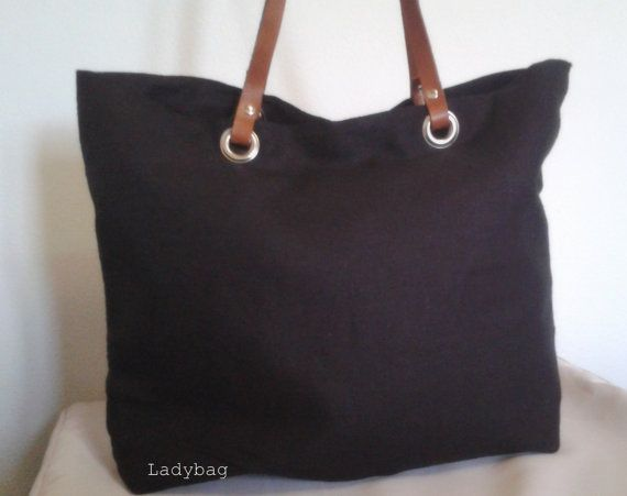 Hey, I found this really awesome Etsy listing at https://www.etsy.com/listing/174679276/black-natural-linen-tote-bag-with
