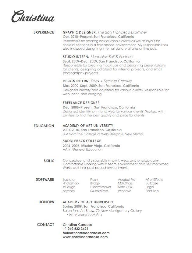 21 best Well-Designed Resumes images on Pinterest Resume ideas - best designer resumes