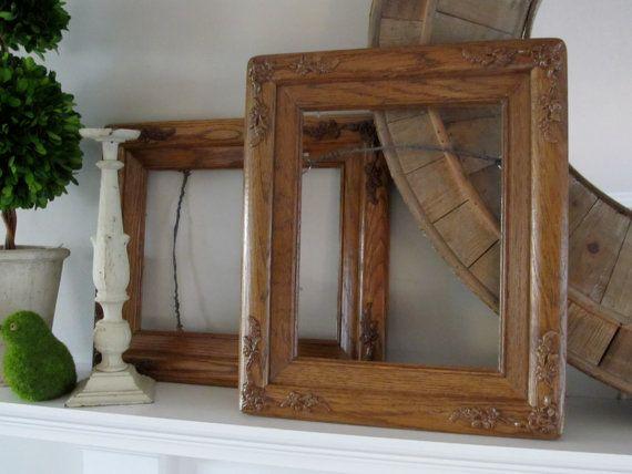 OOAK AMISH Made Vintage Oak Frames Rustic Farmhouse Solid Wood ...