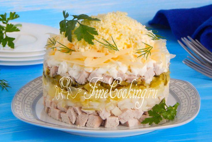 Салат со свининой - рецепт с фото