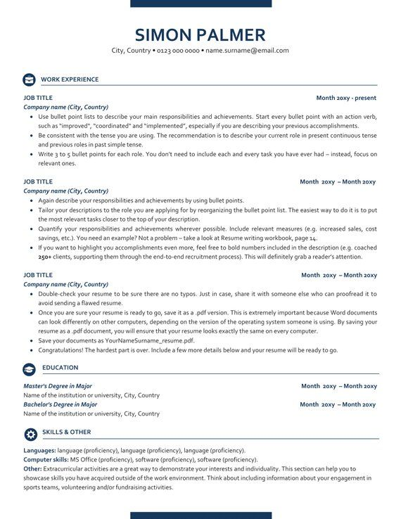 Executive Resume Template Ats Friendly Resume With Icons Etsy In 2020 Executive Resume Template Resume Template Resume Templates