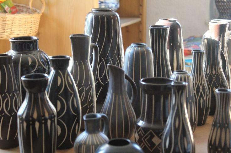 34 Alte Keramik Vasen Piesche Reif 50er 60er Jahre