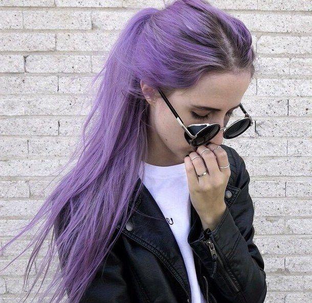 Violette Haare für jedes Alter!