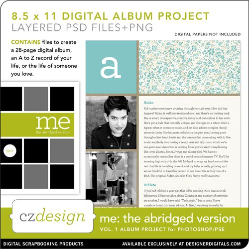 Me: The Abridged Version Vol. 01 8.5 x 11 Digital Album Project - Digital - Cathy Zielske