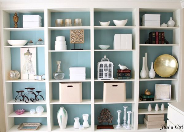 Love the background color. Ikea Billy Bookcase