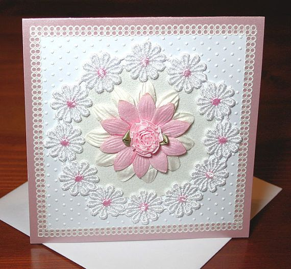 Ladies Very Pretty Daisy Lace 300 gsm Lavender Pink Birthday