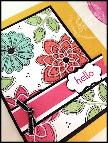 Stampin' Gals Gone Wild Weekend Challenge - March 20, 2015 - join us at www.SimplySimpleStamping.com