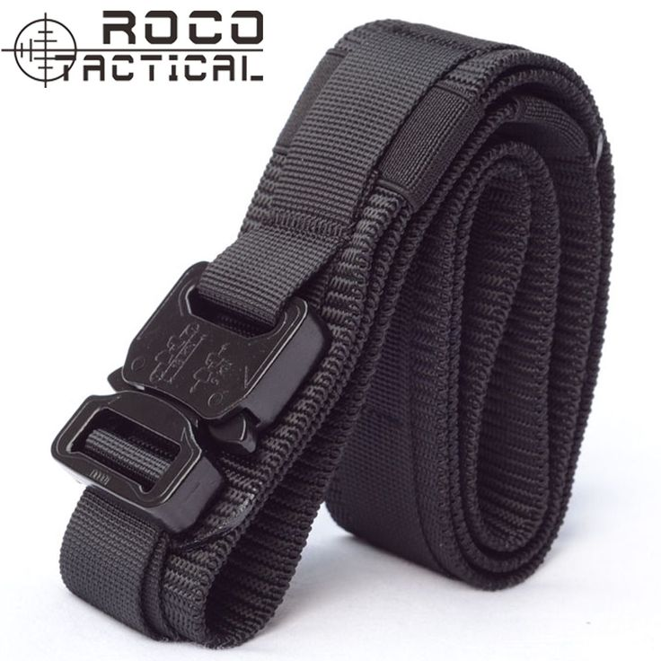 Mens Army Military Gun Belt Molle Operator Gun Pistol Belt Tactical Belt Airsoft Rigger Strap EDC Army Belts Made of 1000D Nylon