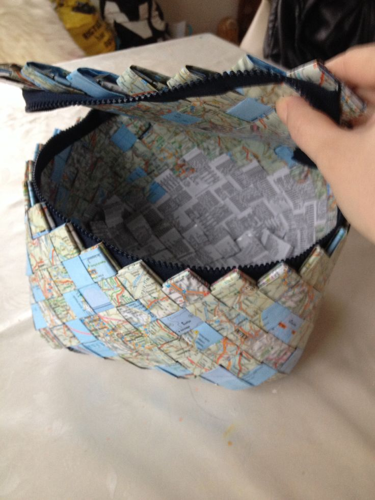 """Beautybox from European Atlas. """"Candy wrapper craft"""" Might be one of the more useful ways to use old textbooks..."""