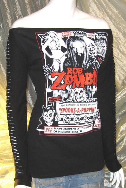 Rob Zombie Tshirt Long Sleeve Top Horror Goth Lolita @Taryn H H Maggot @Baylie Carlson Carlson Wright