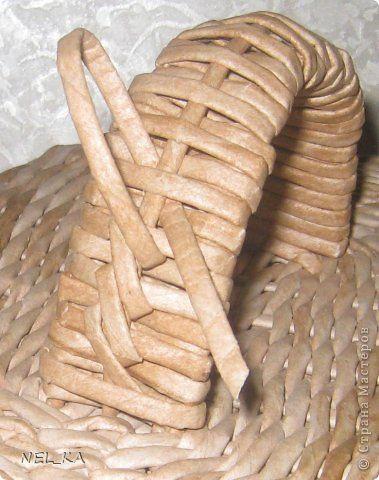 Поделка изделие Плетение Набор для кухни  Пшеничный аромат  Бумага газетная Трубочки бумажные фото 13