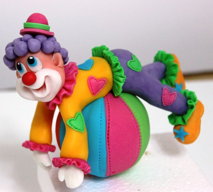 Clown #cake topper