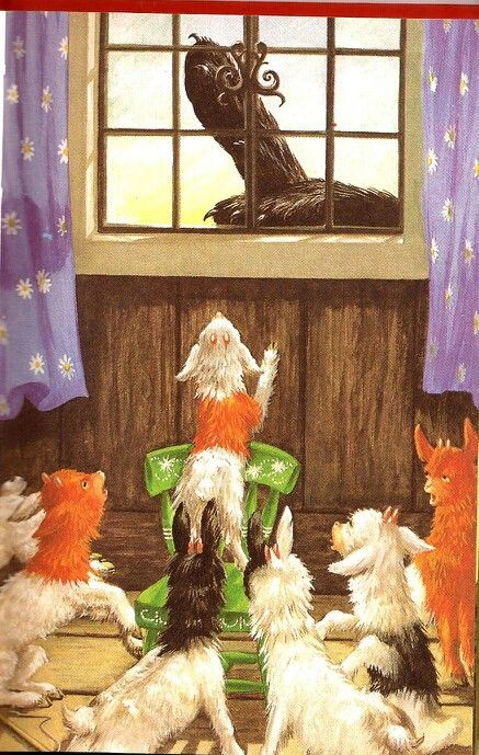 The Wolf And The Seven Little Kids..