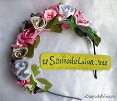 Цветочный ободок своими руками