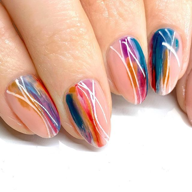 This Abstract Manicure Is Perfect For The Watercolor Lover And
