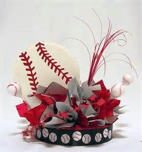 Baseball party Centerpieces |
