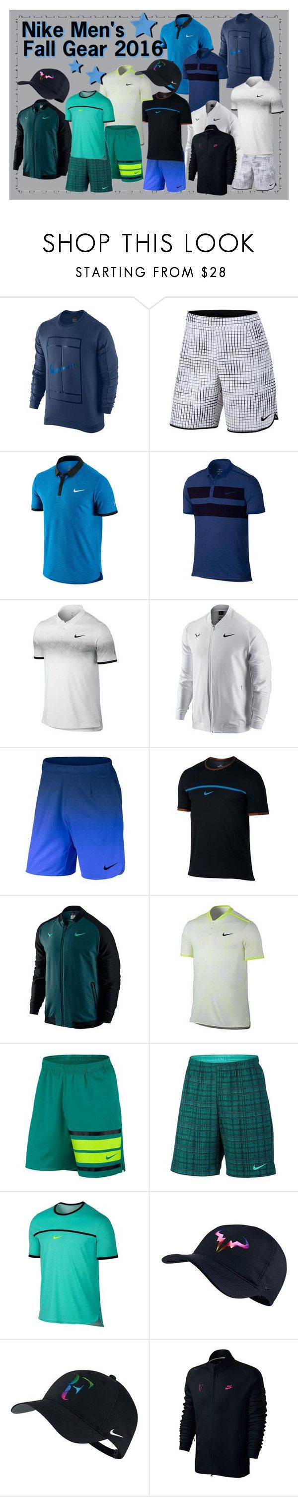 """Nike Men's Fall Tennis Gear 2016"" by tennisexpress  featuring men's fashion and menswear"