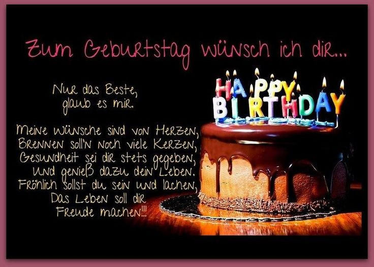 Zum Geburtstag wünsch ich dir... Nur das Beste, glaub es mir