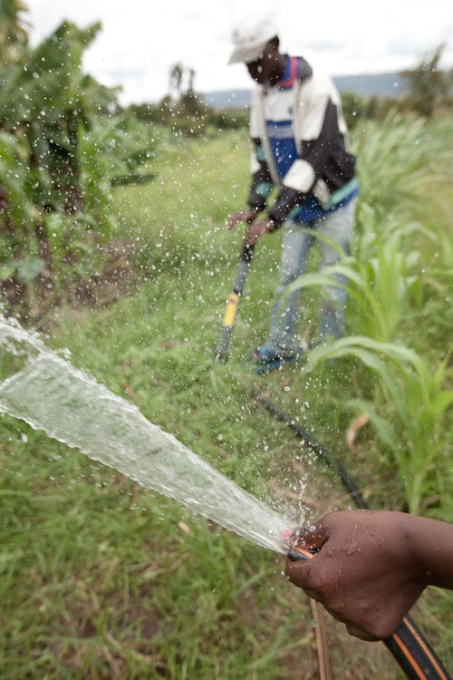 Farmers in rural Kenya put their irrigation pumps to work. Learn more at www.theadventureproject.org.