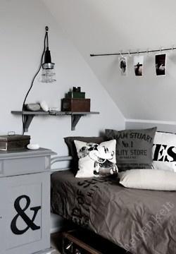 Zinc et Bois brut: Archives: Bedrooms Boys, For Kids, Bedrooms Color For Boys, Bedrooms Design, Black Grey White Kids Rooms, Boys Rooms, Black White, Boys Bedrooms Gray, Rooms Ideas