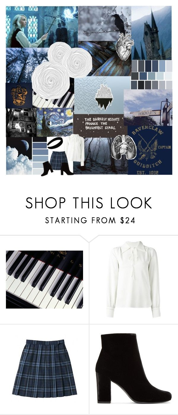 """""""Ravenclaw inspired"""" by sinful-goddess ❤ liked on Polyvore featuring Zephyr, Seed Design, ...Lost, See by Chloé and Yves Saint Laurent"""