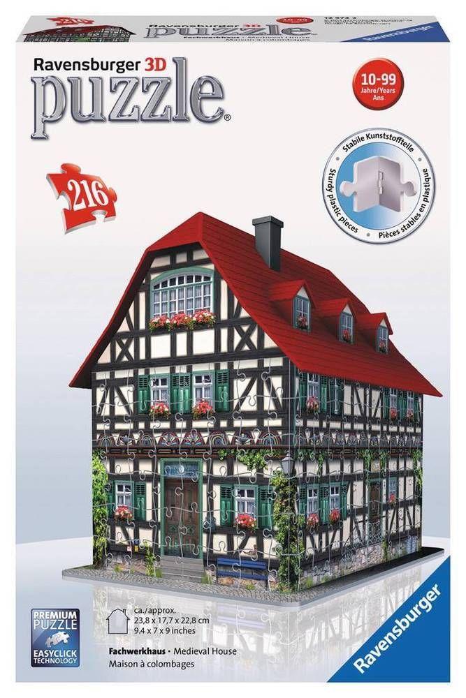 NEW 3D Jigsaw Puzzle 216 Piece Ravensburger MEDIEVAL HOUSE #Ravensburger