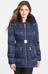 Vince Camuto Faux Fur Collar Down & Feather Parka #RaincoatsForWomenChristmasGifts