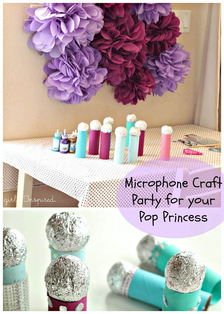 Fun and easy Microphone Craft! Thanks @Stefanie (Girl. Inspired.)!